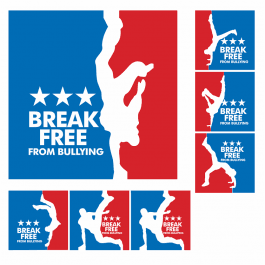 Break Free From Bullying Square Stickers