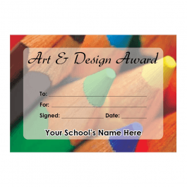 Art & Design Certificate Set 1
