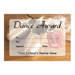 Dance Certificate Set 1