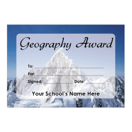 Geography Certificate Set 1