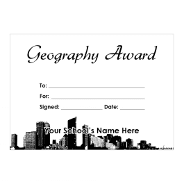 Geography Certificate Set 2