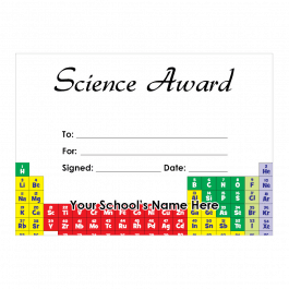 Science Certificate Set 2