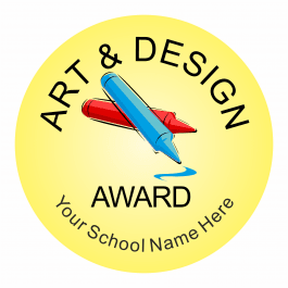 Art & Design Reward Stickers - Classic