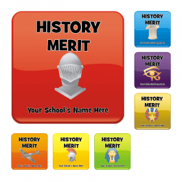 An image of History Square Reward Stickers