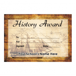 History Certificate Set 1