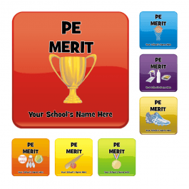 An image of PE Square Reward Stickers