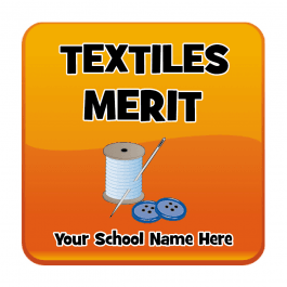 Textiles Square Reward Stickers
