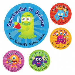Science Monster Stickers