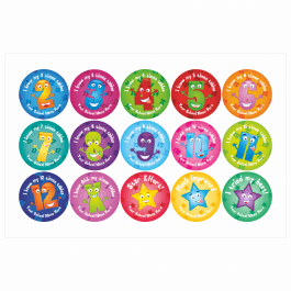 Times Table Stickers