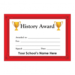 History Certificate Set 3