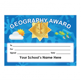 Geography Certificate Set 4