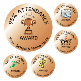 An image of 95% Attendance Bronze Stickers