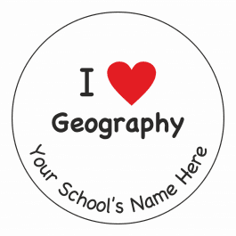 I Heart Geography Stickers