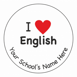 An image of I Heart English Stickers
