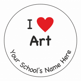 An image of I Heart Art Stickers
