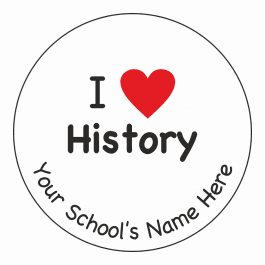 An image of I Heart History Stickers