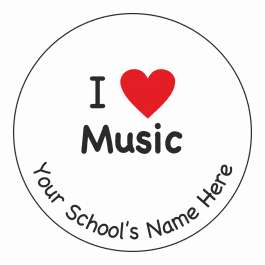 I Heart Music Stickers