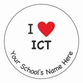 An image of I Heart ICT Stickers