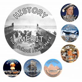 An image of History Reward Stickers - Photographic