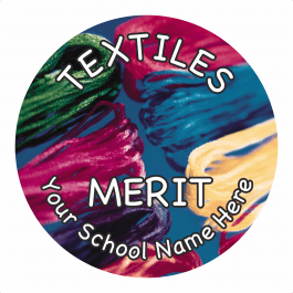 Textiles Reward Stickers - Photographic