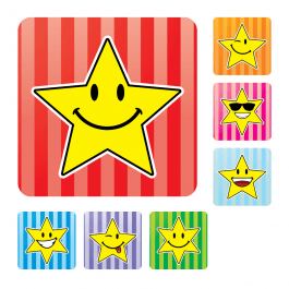 Smiley Star Squares