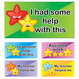 Assisted Work Star Stickers