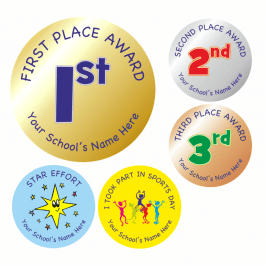 Field Day Award Stickers - Metallic Effect