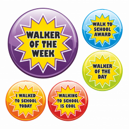 Walk To School Star Stickers