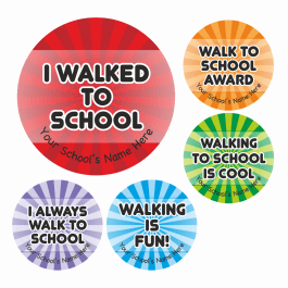 Walk To School Award Stickers