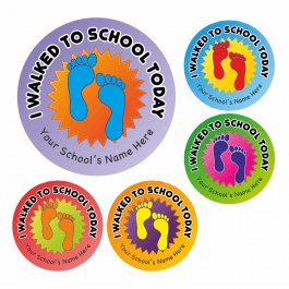 Walk To School Footprint Stickers