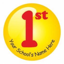 An image of 1st Place Sports Day Stickers