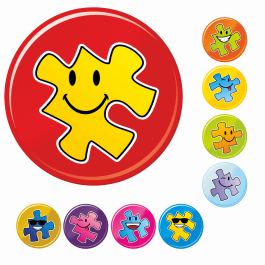 Mini Smiley Jigsaw Stickers