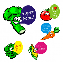 Talking Veg Stickers