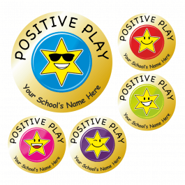 Gold Star Positive Play Stickers