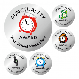 Silver Punctuality Stickers