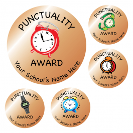 Bronze Punctuality Stickers