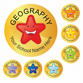 An image of Geography Star Stickers Medium Pack