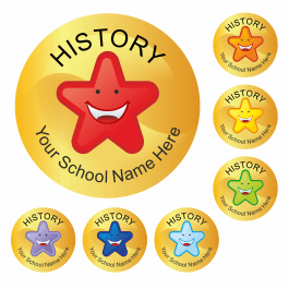 An image of History Star Stickers Medium Pack