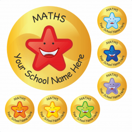 An image of Maths Star Stickers Medium Pack
