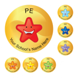 An image of PE Star stickers Medium Pack