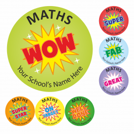 Maths Wow Stickers