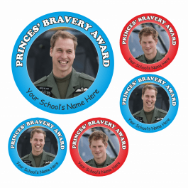 Princes Bravery Award Stickers