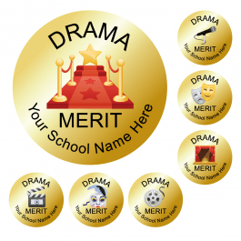 An image of Drama Metallic Gold Reward Stickers - Value Pack