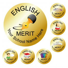 An image of English Reward Stickers - Metallic Gold - Value Pack