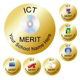 An image of ICT Reward Stickers - Metallic Gold - Value Pack