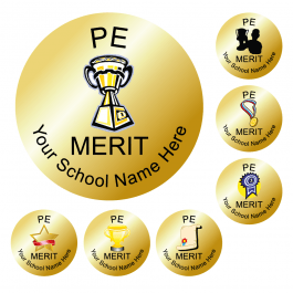 An image of PE Reward Stickers - Metallic Gold - Value Pack