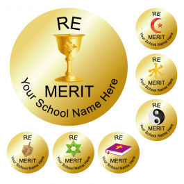 An image of RE Reward Stickers - Metallic Gold - Value Pack
