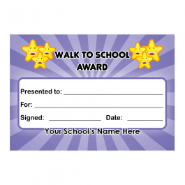Walk To School Certificates