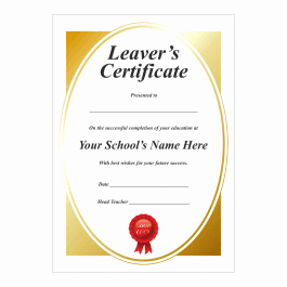 Gold Leaver's Certificates