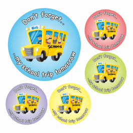 School Trip Reminder Stickers